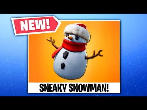 The New SNEAKY SNOWMAN Item In Fortnite..
