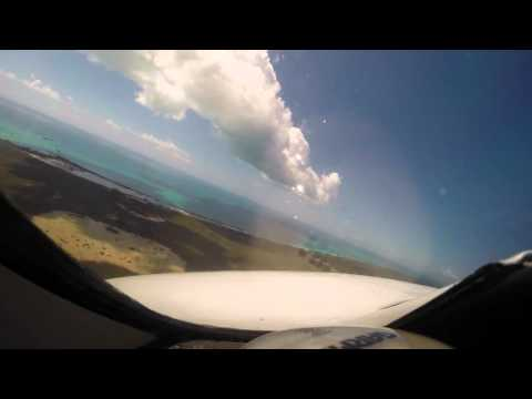 Citation II Landing Cat Island Airport  New Bight MYCB