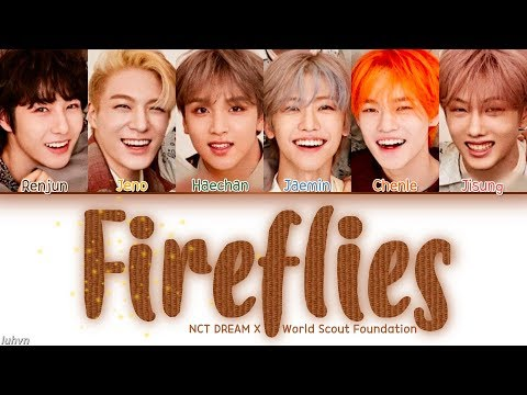 NCT DREAM (엔시티 드림) - 'Fireflies' LYRICS [ENG COLOR CODED] 가사
