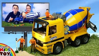 Toy Cars | Concrete mixers blue and yellow | Construction Vehicles Toys for Children TaTaToyzzz