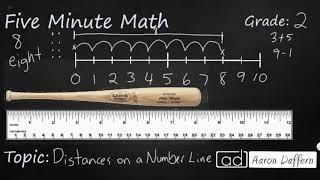 2nd Grade Math Distances on a Number Line