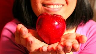 ASMR whisper eating a juicy Red Delicious Apple (requested)