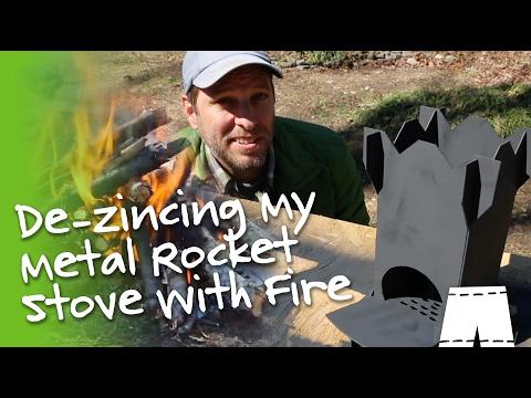 How To Burn Zinc Off A Metal Rocket Stove