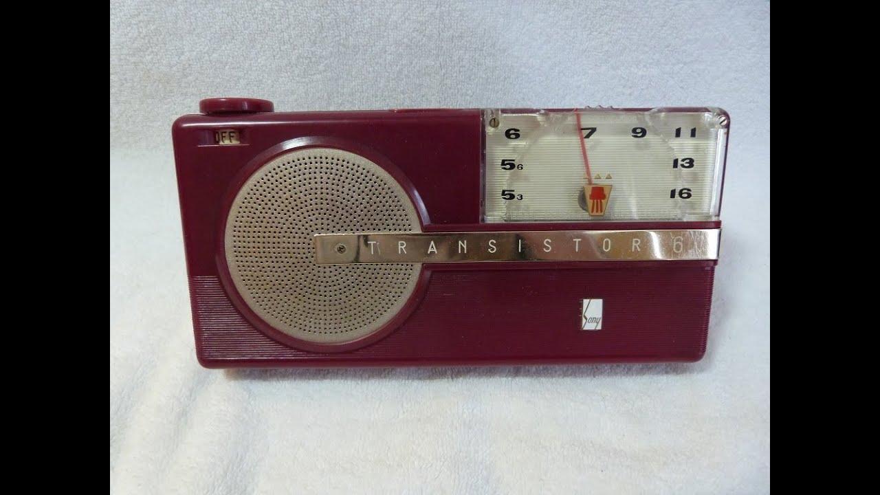 1956 Sony Model Tr-6 Transistor Radio  Made In Japan