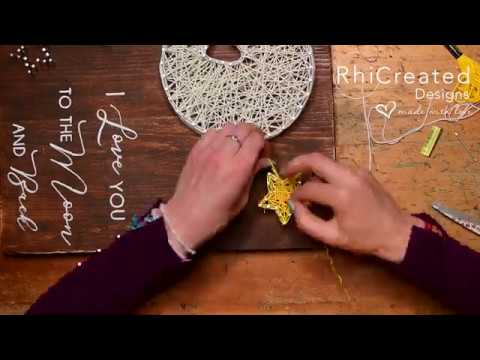 String Art Timelapse -  I love you to the Moon and Back