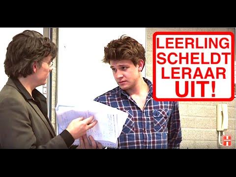 LEERLING SCHELDT LERAAR UIT!