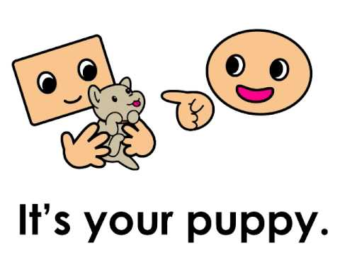 Whose puppy is it? ESL for kids