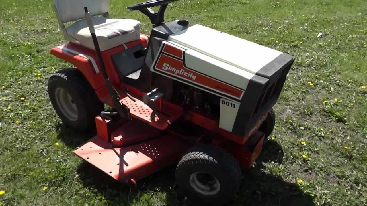 On Auction: Simplicity 6011 Broadmoor Lawn Mower With 44` Deck  by postabid