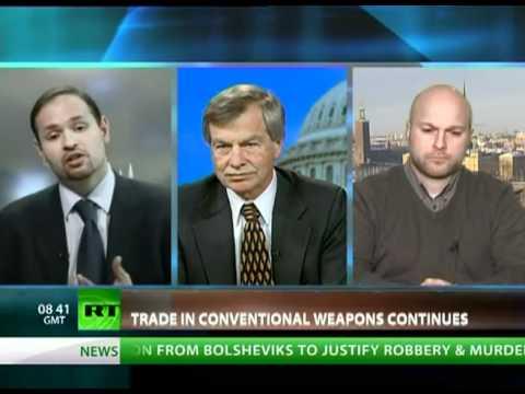 SIPRI Expert Dr Paul Holtom on global arms trends on CrossTalk, RT