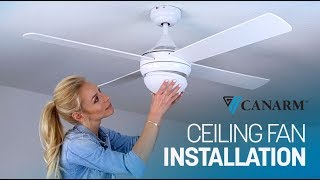 How to Install a Ceiling Fan | Canarm