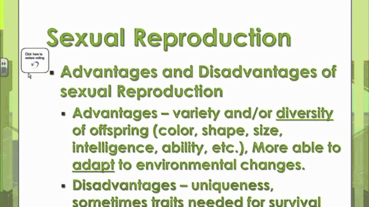 Advantages of using sexual reproduction in plants