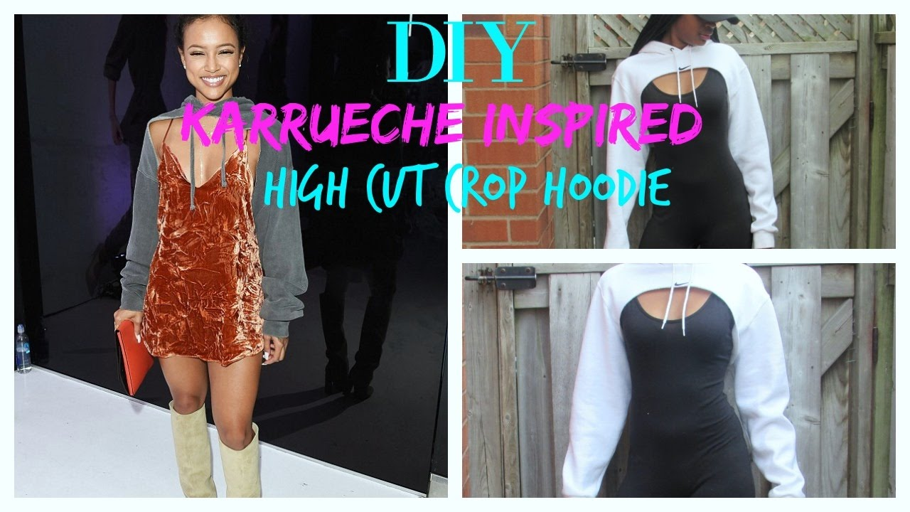 Diy Nike Karrueche Inspired High Cut Crop Hoodie Tutorial