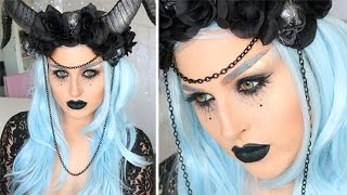 Dark Evil Fairy or Witch ♡ Glamorous Halloween Makeup