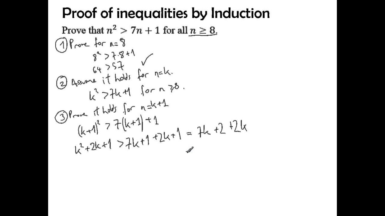 Proof of inequalities using Induction - YouTube
