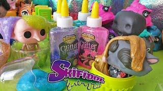 SKIFICOLLA Skifidol 😱 Sfida di Slime con la Colla Glitter! [Challenge + Unboxing]