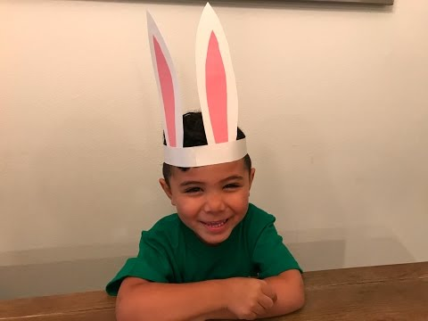 HOW TO MAKE EASTER BUNNY EARS FOR KIDS - Simple DIY Crafts