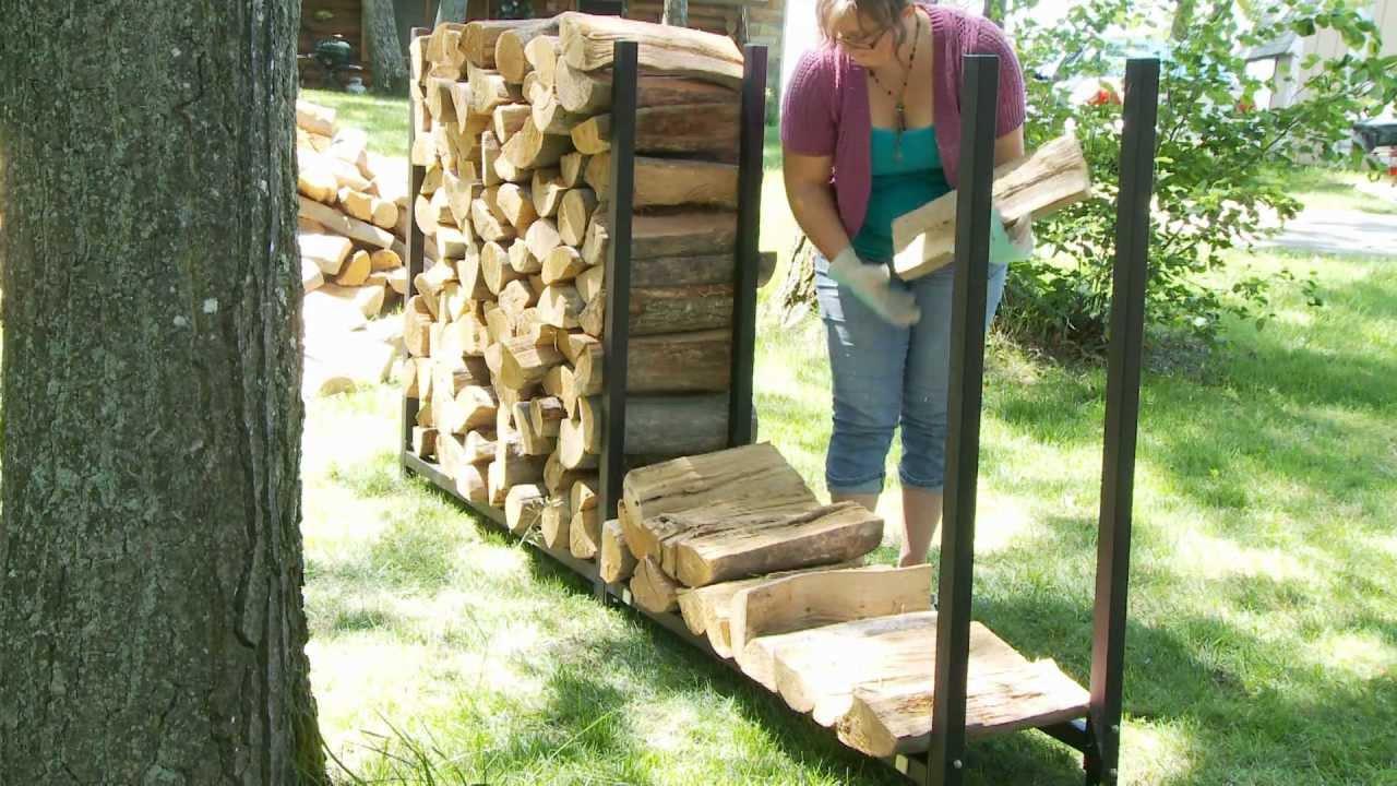 WoodEze Expandable Firewood Rack - YouTube