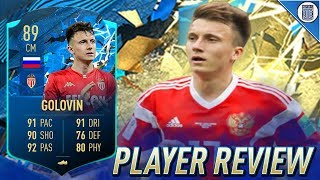 89 TEAM OF THE SEASON MOMENTS GOLOVIN PLAYER REVIEW! TOTS GOLOVIN - FIFA 20 ULTIMATE TEAM