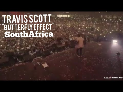 "Travis Scott Performs ""Butterfly Effect"" In South Africa !"