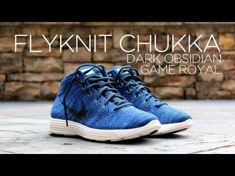 Nike Flyknit Chukka Blue