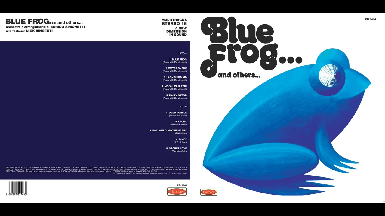 ENRICO SIMONETTI ORCHESTRA: Blue Frog and others | LPH8004
