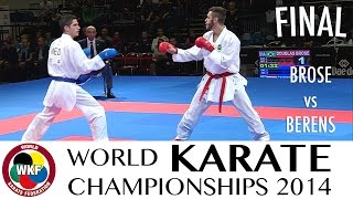 BROSE vs BERENS. Final Kumite -60kg. 2014 World Karate Championships
