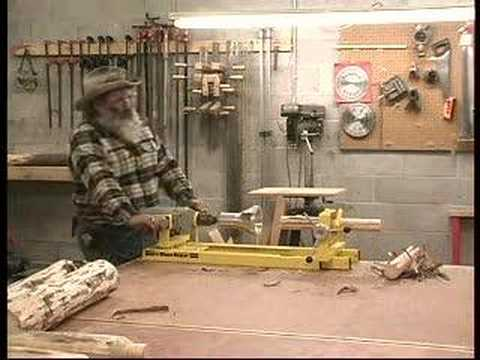 How to make log furniture youtube for Log cabin furniture canada