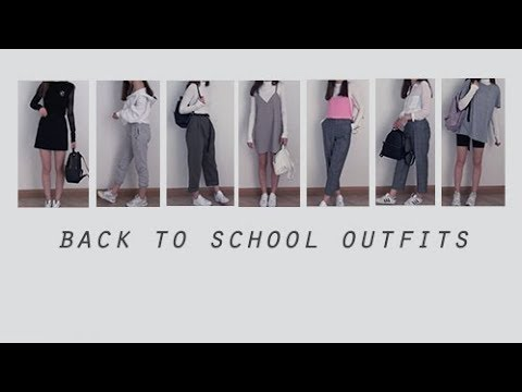 [VIDEO] - Back to school outfit ideas ▫︎ Korean inspired fashion 9