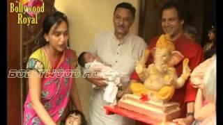 Vivek Oberoi & Family Bring Ganpati Home 2015