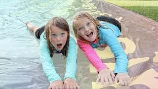 GIANT Backyard WATER SLIDE!