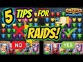 5 unknown tips for winning offensive Raids in Empires and Puzzles 2019