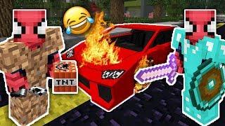 ZENGİN VS FAKİR ÖRÜMCEK ADAM #21 - Fakir Zengin'in Arabasını Bozdu (Minecraft) Video