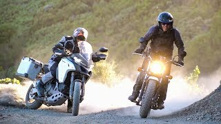 Suzuki VanVan 200 vs. Ducati Multistrada 1200 Enduro Rags to Riches! | On Two Wheels