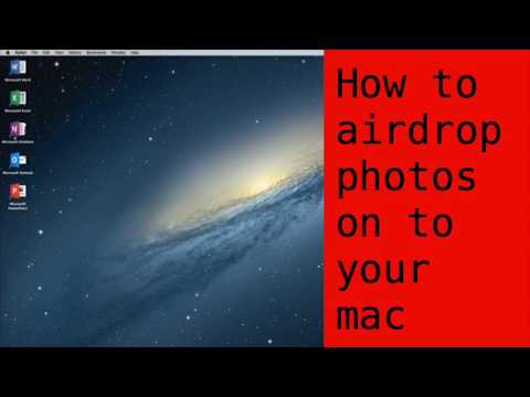 How to airdrop photos to mac