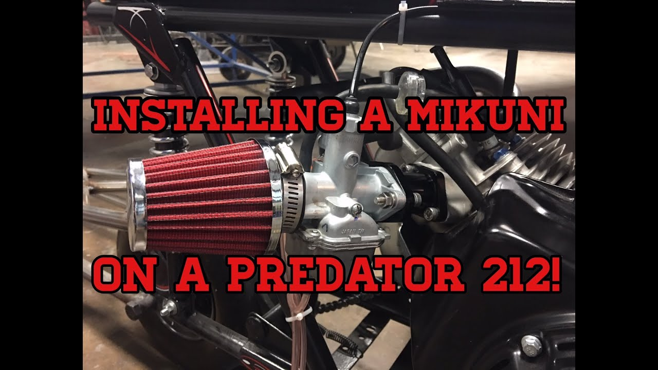 Kart It How To Install A Mikuni Carburetor On A Predator