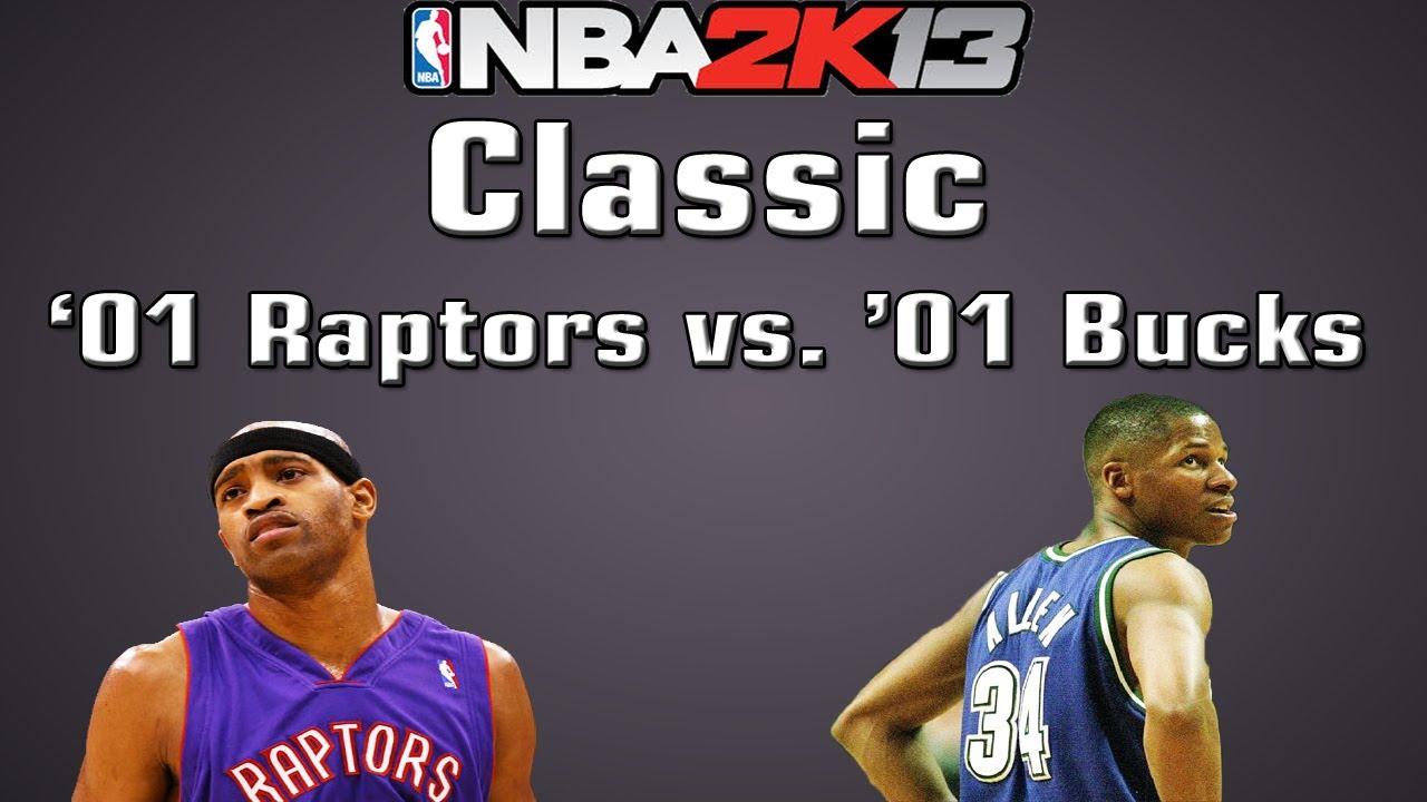 f0e38e843 NBA 2K13 Classic -  00-01 Toronto Raptors vs.  00-01 Milwaukee Bucks -  YouTube