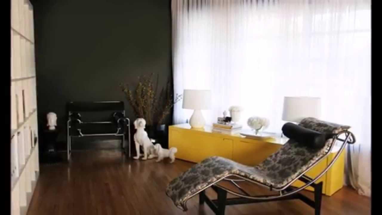 Décoration salon avec l'accent jaune - YouTube