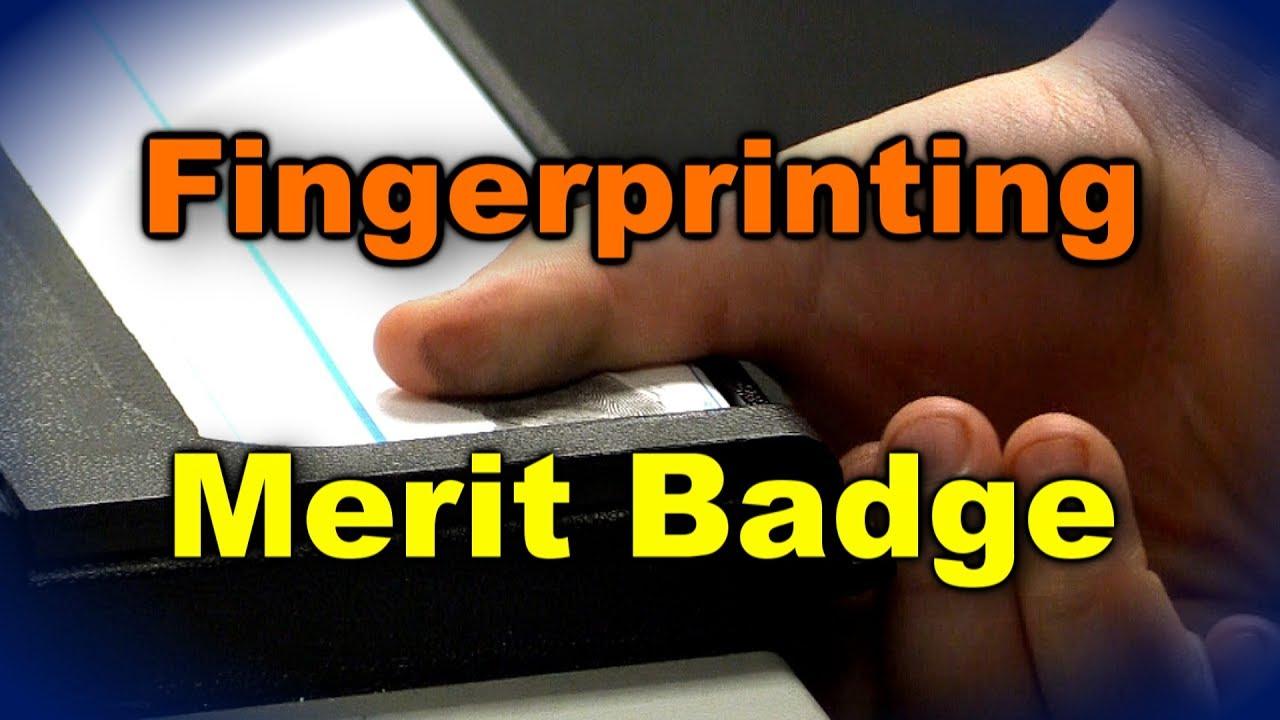 Fingerprinting Merit Badge - YouTube