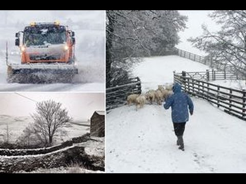 UK weather: Snow arrives across Britain as country awaits Storm Eva