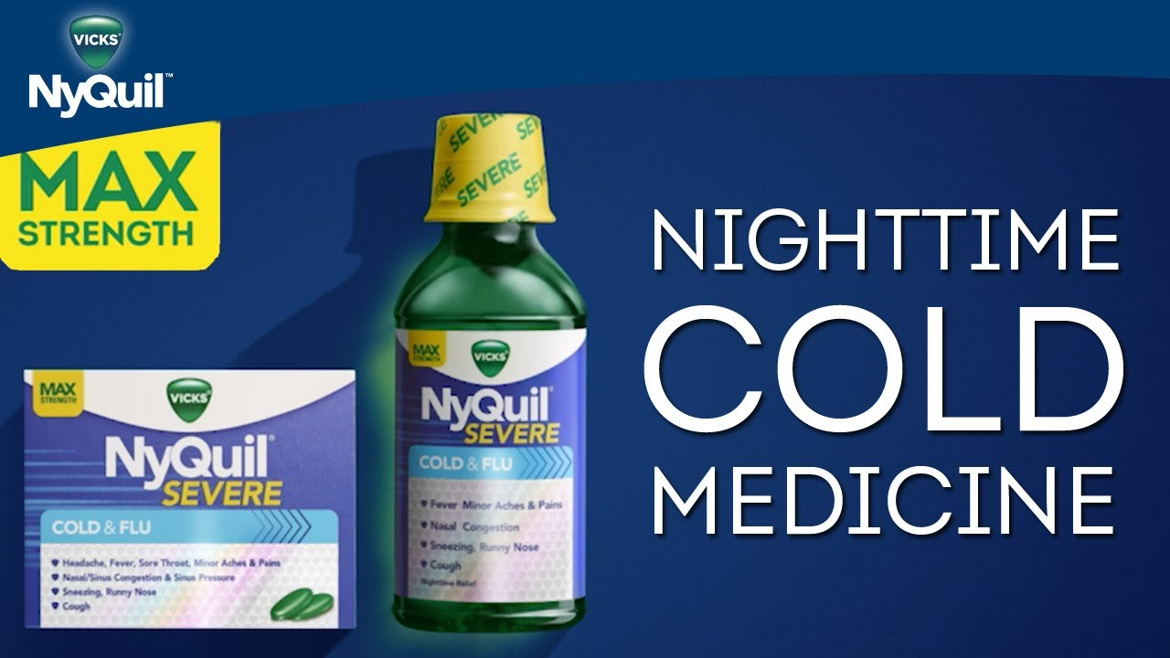 vicks nyquil severe product information nighttime cold medicine