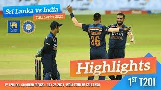 Download 1st T20I Highlights   Sri Lanka vs India 2021