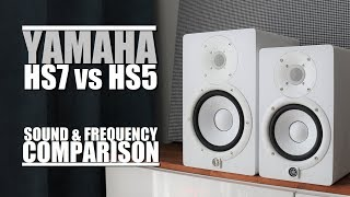 Yamaha HS7 vs Yamaha HS5 || Sound & Frequency Response Comparison