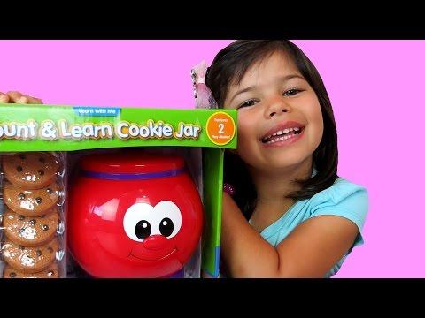 COOKIE JAR! - Counting Cookies - Talking Jar - Chocolate Chip - Yummy Treats- Numbers