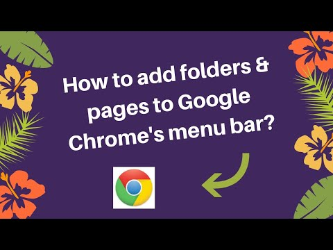 How to add folders and pages to Google Chrome's menubar   - RD Tech Channel