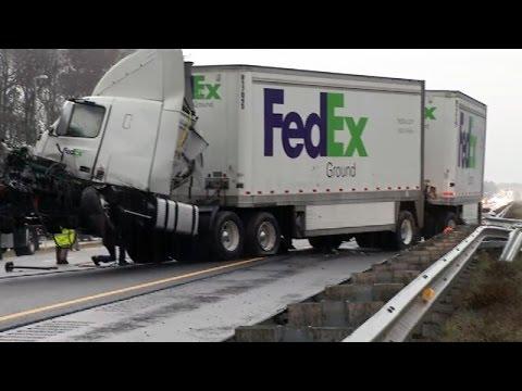 083#Alex-Дальнобой США    FedEx Truck Accident,,I-20,TX