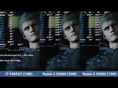 Ryzen 5 3500U Vs Core I7-1065G7 Ice Lake. Vega 8 Vs Iris Plus Graphics 940