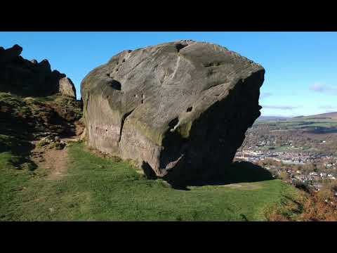 Drone footage of Ilkley Moor and The Cow and Calf rocks, October 2017 - DJI Spark