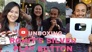 || UNBOXING SILVER PLAY BUTTON OF ROHIT 🐍 || ROHIT GIRI || JESSICA GURUNG ||