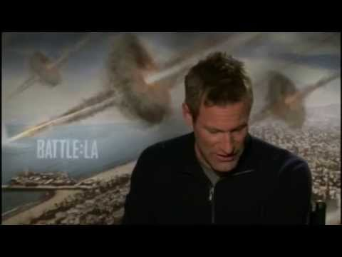 "AARON ECKHART ""BATTLE: LOS ANGELES"" INTERVIEW"