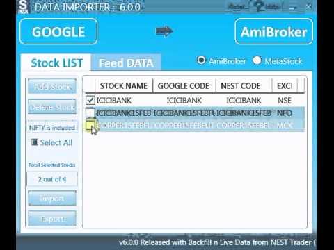 Stock Live's Data Importer for Amibroker & MetaStock - Introduction